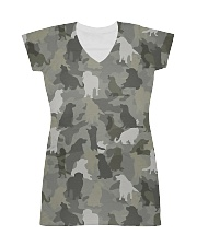 Camo Golden Retriever  All-over Dress thumbnail