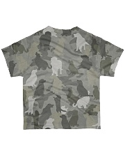 Camo Golden Retriever  All-over T-Shirt back