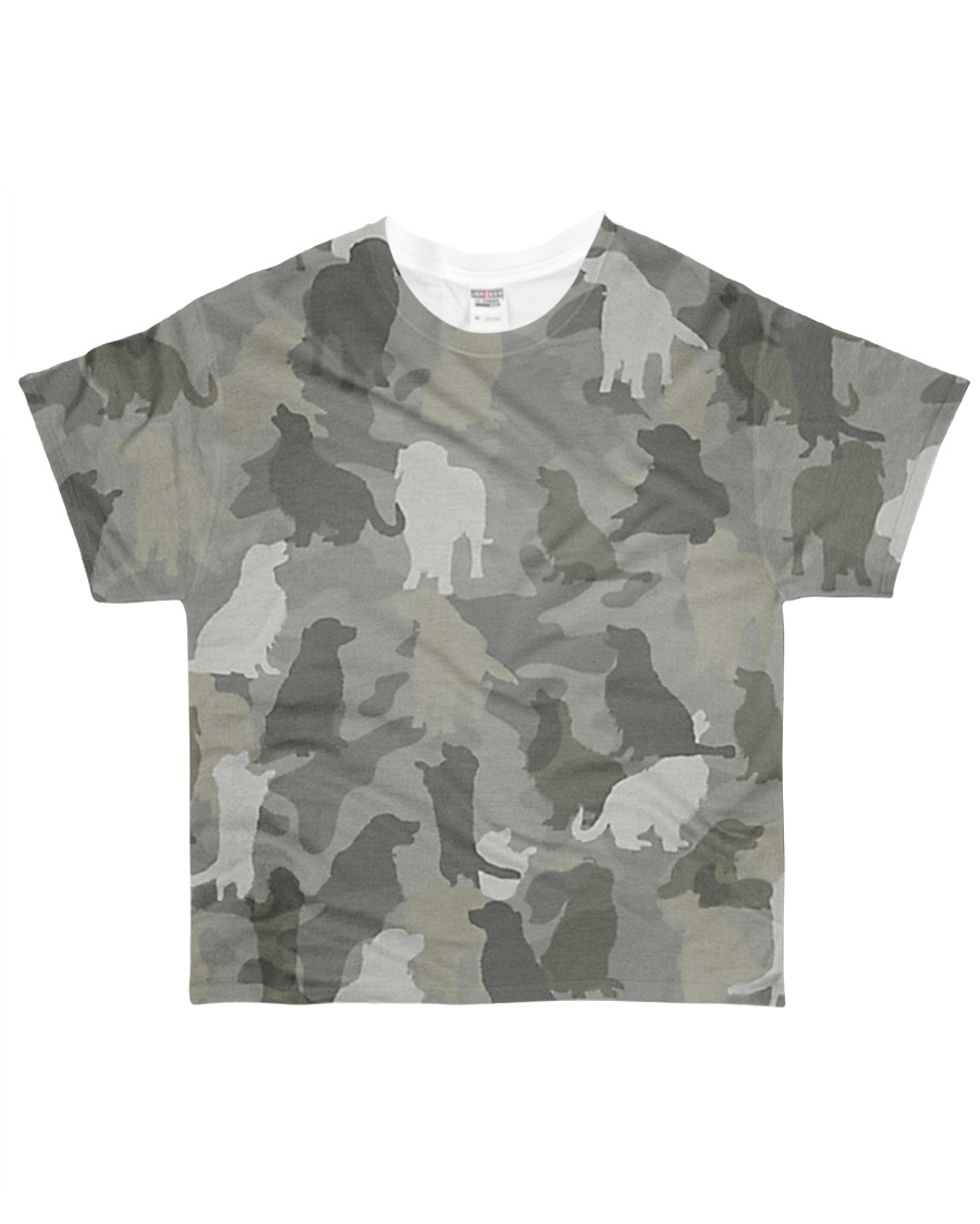 Camo Golden Retriever  All-over T-Shirt