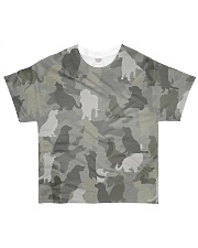 Camo Golden Retriever  All-over T-Shirt front