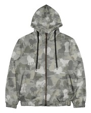 Camo American Cocker Spaniel Men's All Over Print Full Zip Hoodie thumbnail
