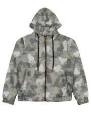 Camo American Cocker Spaniel Women's All Over Print Full Zip Hoodie thumbnail