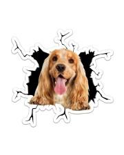 English Cocker Spaniel Sticker - Single (Vertical) front