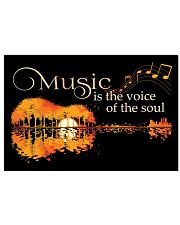 Music Is The Voice Of Soul Jungle Guitar 17x11 Poster front