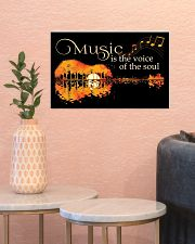 Music Is The Voice Of Soul Jungle Guitar 17x11 Poster poster-landscape-17x11-lifestyle-21