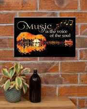Music Is The Voice Of Soul Jungle Guitar 17x11 Poster poster-landscape-17x11-lifestyle-23