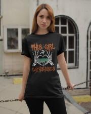 Dachshund - This girl loves Dachshunds Classic T-Shirt apparel-classic-tshirt-lifestyle-19