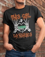 Dachshund - This girl loves Dachshunds Classic T-Shirt apparel-classic-tshirt-lifestyle-26