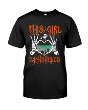 Dachshund - This girl loves Dachshunds Classic T-Shirt front