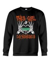 Dachshund - This girl loves Dachshunds Crewneck Sweatshirt thumbnail