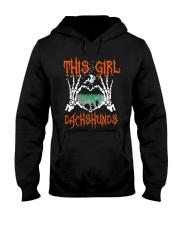 Dachshund - This girl loves Dachshunds Hooded Sweatshirt thumbnail
