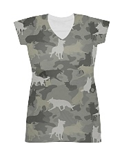 Camo German Shepherd-camouflage Square Pillowcase All-over Dress thumbnail