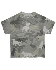 Camo German Shepherd-camouflage Square Pillowcase All-over T-Shirt back