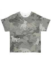 Camo German Shepherd-camouflage Square Pillowcase All-over T-Shirt front