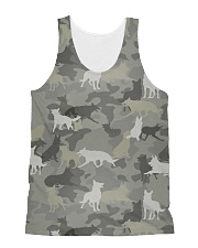 Camo German Shepherd-camouflage Square Pillowcase All-over Unisex Tank thumbnail
