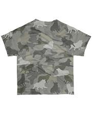 Camo Australian Shepherd All-over T-Shirt back