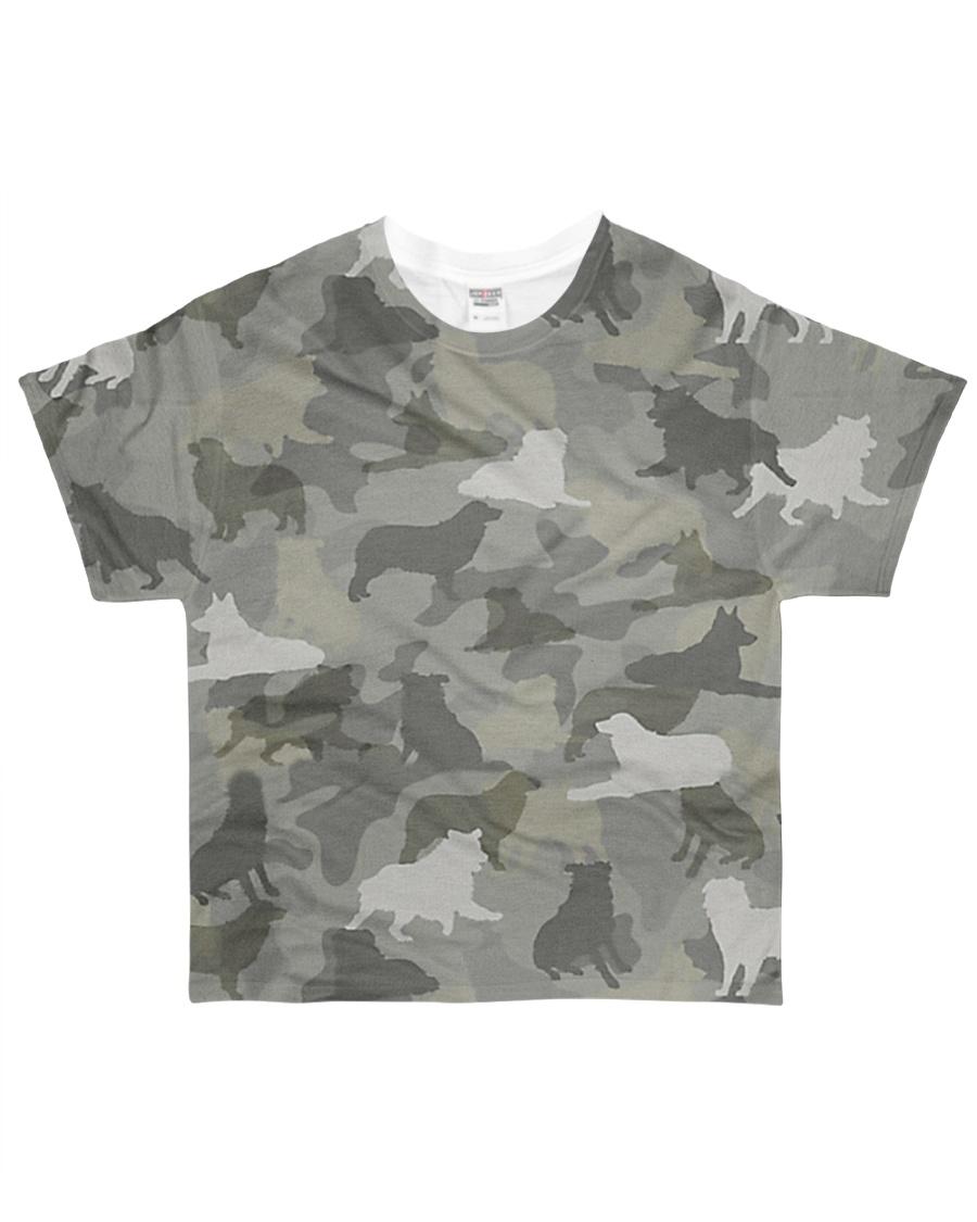 Camo Australian Shepherd All-over T-Shirt