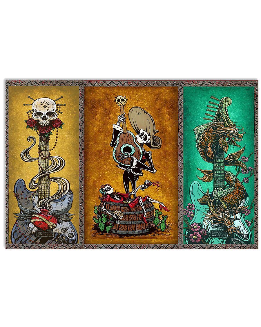 Guitar Skeleton 17x11 Poster