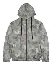 Camo Chihuahua Men's All Over Print Full Zip Hoodie thumbnail