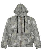 Camo Chihuahua Women's All Over Print Full Zip Hoodie thumbnail