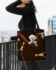 Bichon Frise All-over Tote aos-all-over-tote-lifestyle-front-05