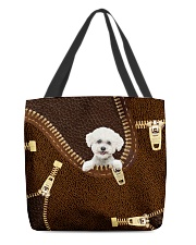 Bichon Frise All-over Tote back