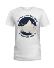 Take the long way home adventure awaits Ladies T-Shirt thumbnail