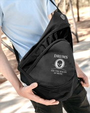Drums are the bacon of music Sling Pack garment-embroidery-slingpack-lifestyle-08