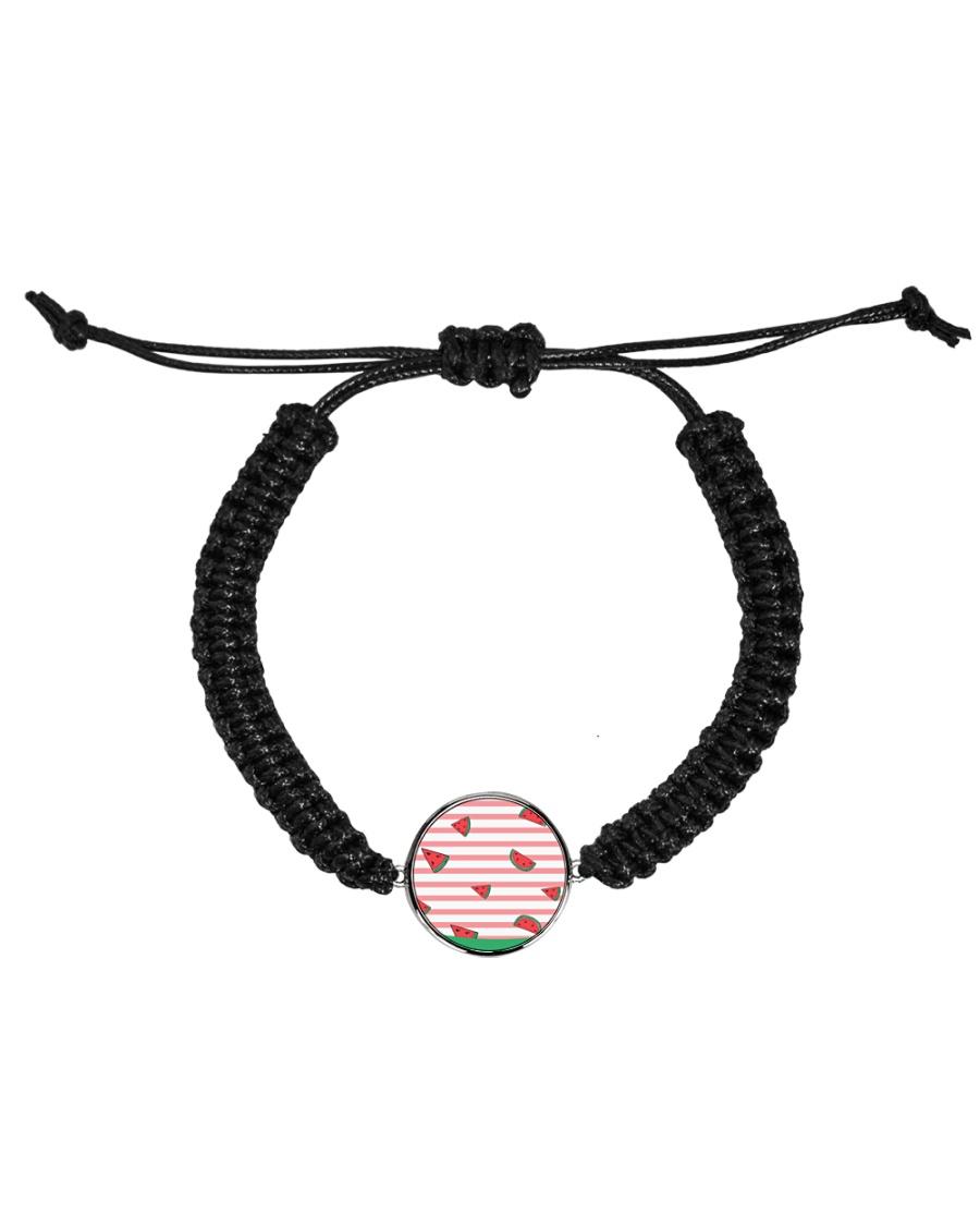 Watermelon Cord Circle Bracelet