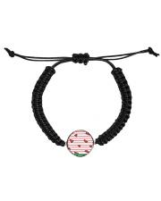 Watermelon Cord Circle Bracelet front