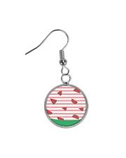 Watermelon Circle Earrings thumbnail