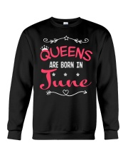 Queens Are Born In June Shirts Crewneck Sweatshirt thumbnail