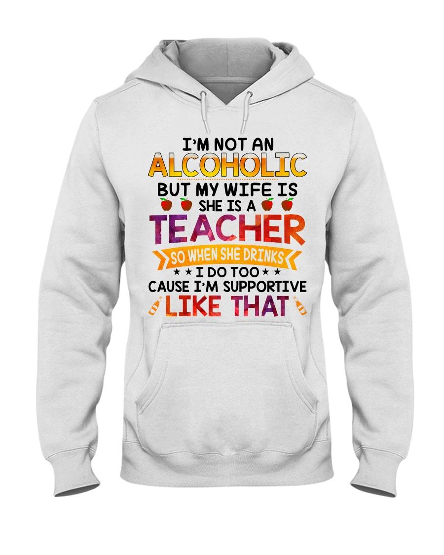 TEACHER - I'M SUPPORTIVE LIKE THAT Hooded Sweatshirt