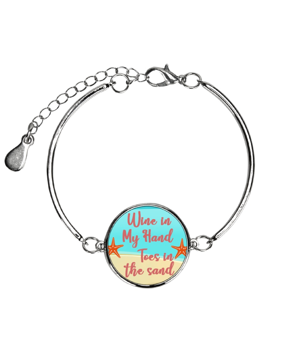 Wine Lover Metallic Circle Bracelet