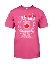 I'm a Canadian Woman - I Can't Control Premium Fit Mens Tee thumbnail