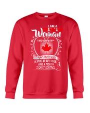 I'm a Canadian Woman - I Can't Control Crewneck Sweatshirt thumbnail