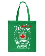 I'm a Canadian Woman - I Can't Control Tote Bag thumbnail
