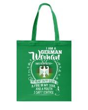I am a German Woman - I Can't Control Tote Bag thumbnail