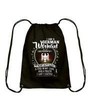 I am a German Woman - I Can't Control Drawstring Bag thumbnail