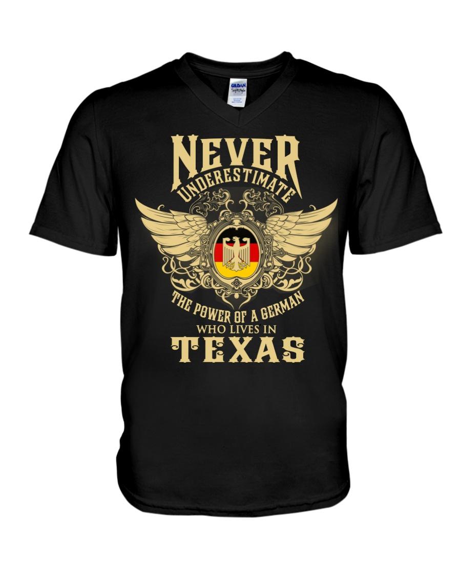 German in Texas V-Neck T-Shirt