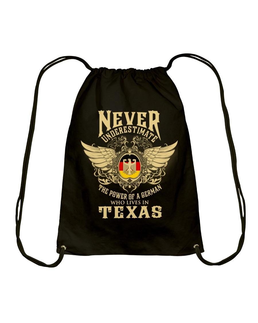 German in Texas Drawstring Bag