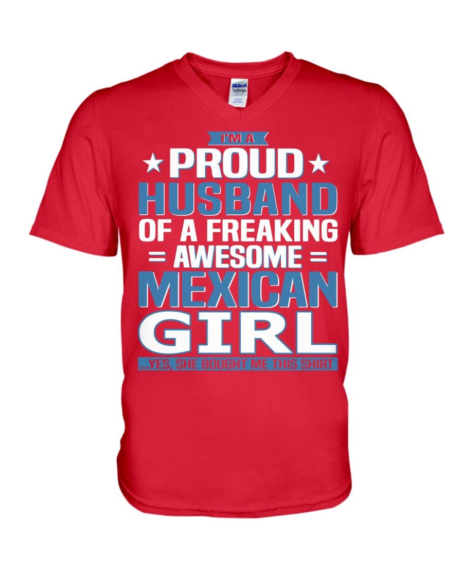 Mexican Husband  V-Neck T-Shirt showcase
