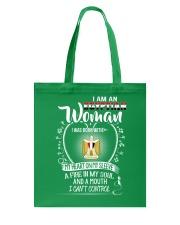 I'm a Egyptian Woman - I Can't Control Tote Bag thumbnail
