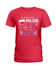 Polish Wife Ladies T-Shirt front