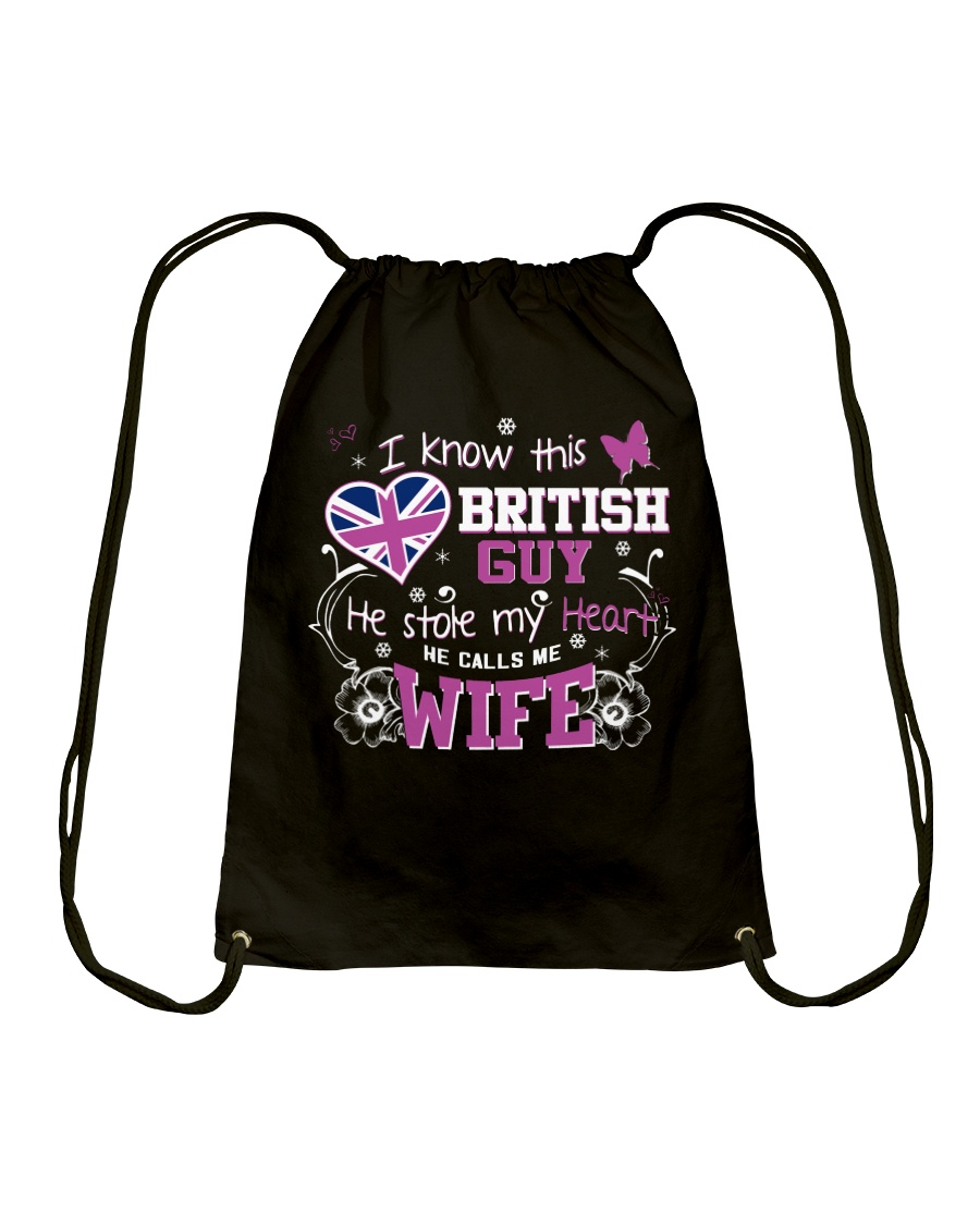 British Wife Drawstring Bag