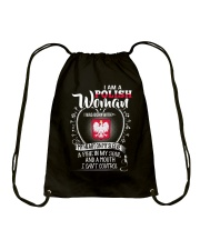 I'm a Polish Woman - I Can't Control Drawstring Bag thumbnail