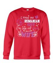 Romanian Wife Crewneck Sweatshirt thumbnail
