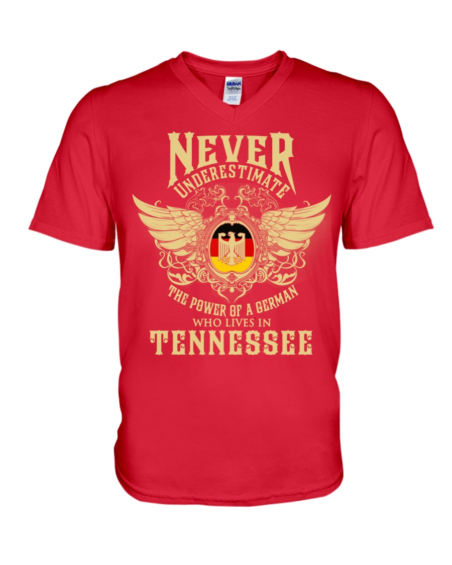 German in Tennessee V-Neck T-Shirt