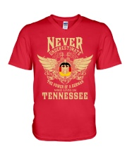 German in Tennessee V-Neck T-Shirt front