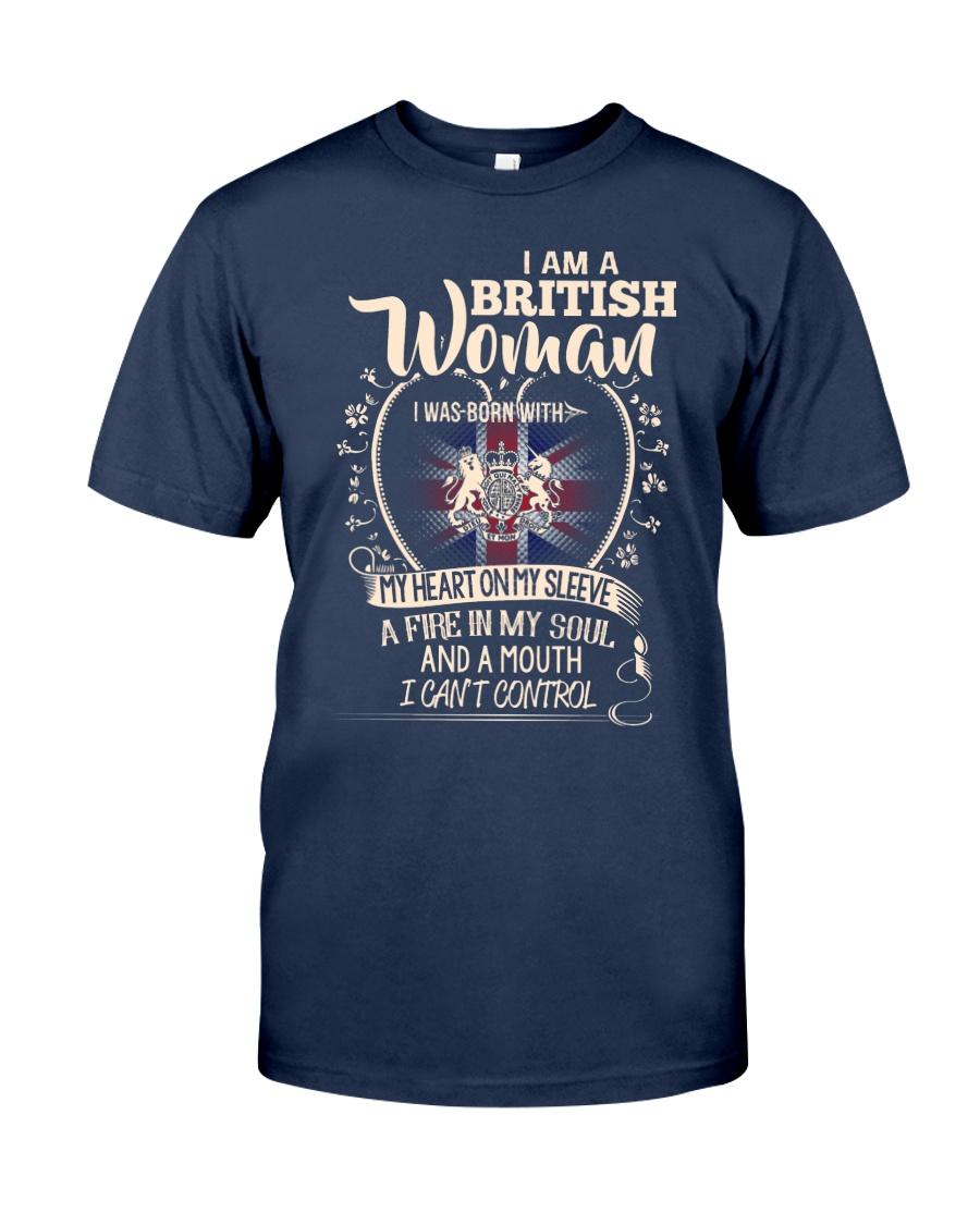 British Woman - I Can't Control Classic T-Shirt